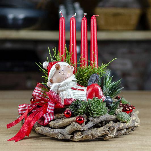Kouzelný adventní svícen s vánočním skřítkem 1