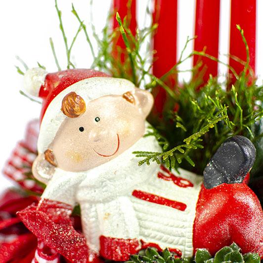Kouzelný adventní svícen s vánočním skřítkem 6