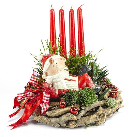 Kouzelný adventní svícen s vánočním skřítkem
