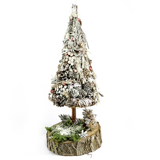 Bílý zasněžený stromeček