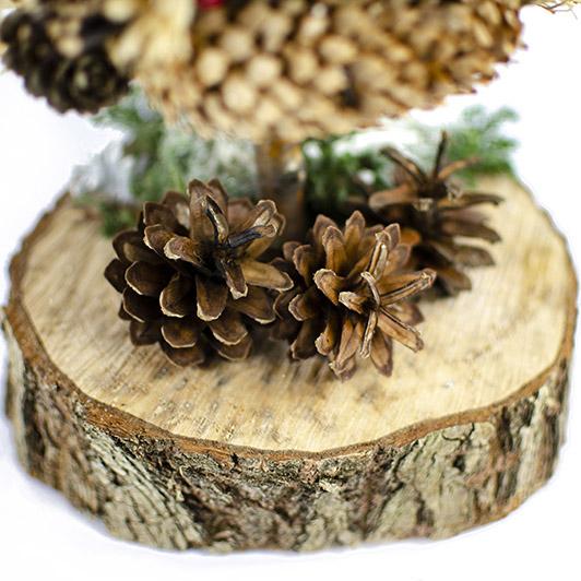 Skromný stromek z mechu a přírodních plodů  3