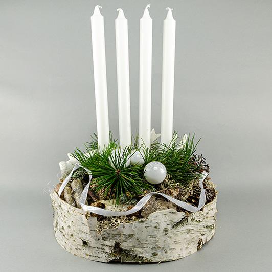 Jednoduchý skandinávský adventní svícen s parožím 4
