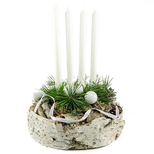 Jednoduchý skandinávský adventní svícen s parožím 6