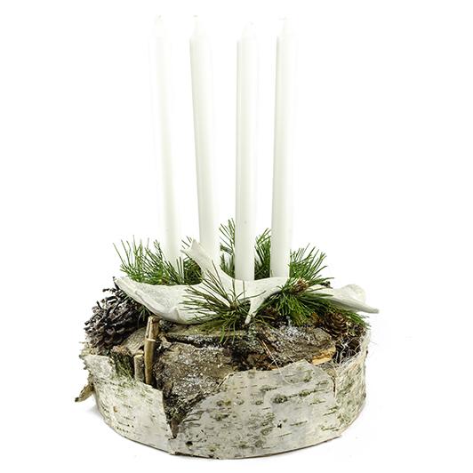 Jednoduchý skandinávský adventní svícen s parožím