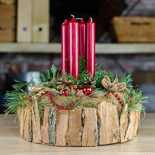 Originální adventní svícen s exotickými plody  1