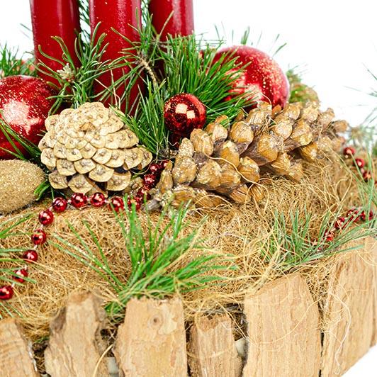 Originální adventní svícen s exotickými plody  4