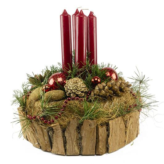 Originální adventní svícen s exotickými plody