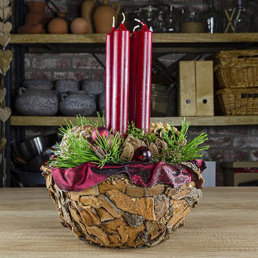 Obdivuhodný adventní/ štědrovečerní svícen s nádechem exotiky 1