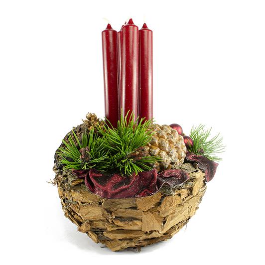 Obdivuhodný adventní/ štědrovečerní svícen s nádechem exotiky 4