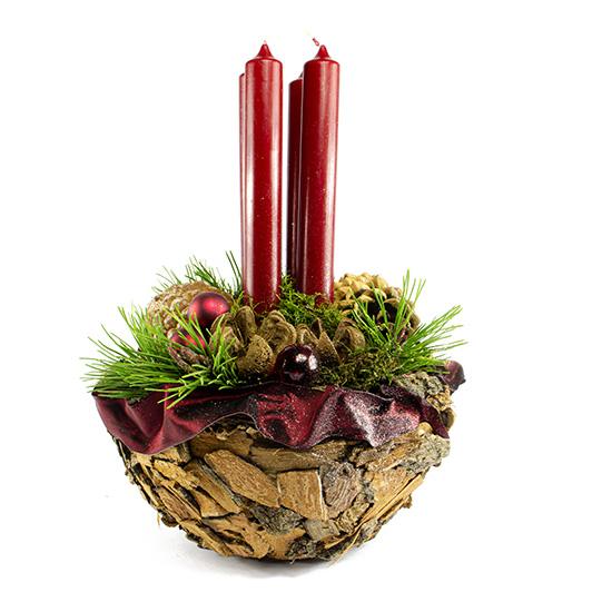 Obdivuhodný adventní/ štědrovečerní svícen s nádechem exotiky 6