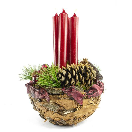 Obdivuhodný adventní/ štědrovečerní svícen s nádechem exotiky 8