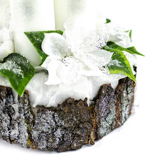 Luxusní svícen s ledovými květy 1