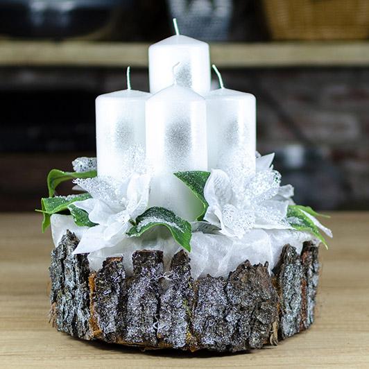 Luxusní svícen s ledovými květy 2