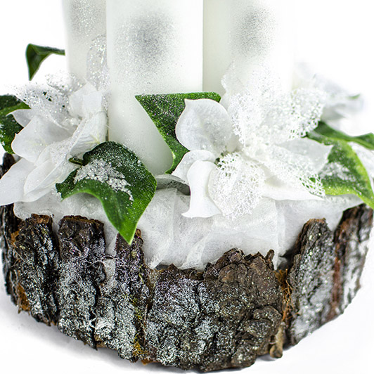 Luxusní svícen s ledovými květy 3