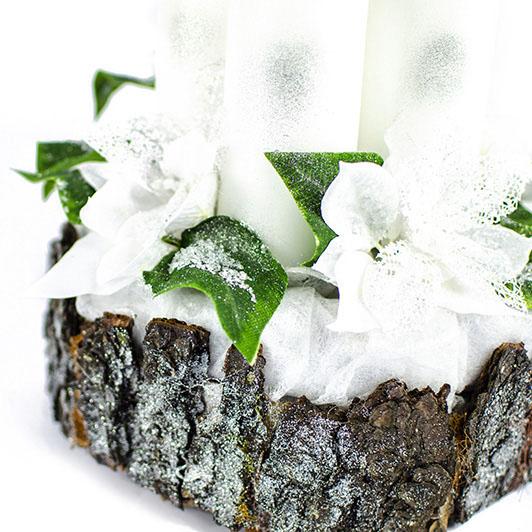Luxusní svícen s ledovými květy 4