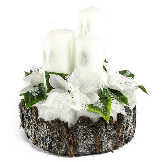 Luxusní svícen s ledovými květy 5