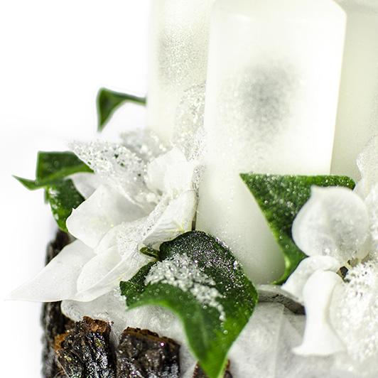 Luxusní svícen s ledovými květy 6