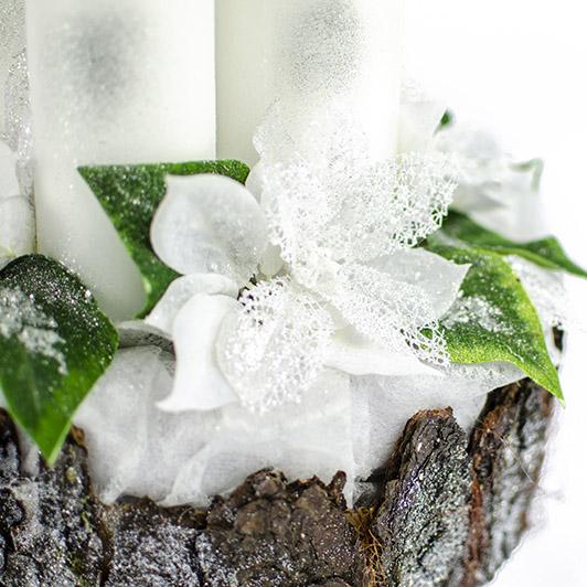 Luxusní svícen s ledovými květy 7