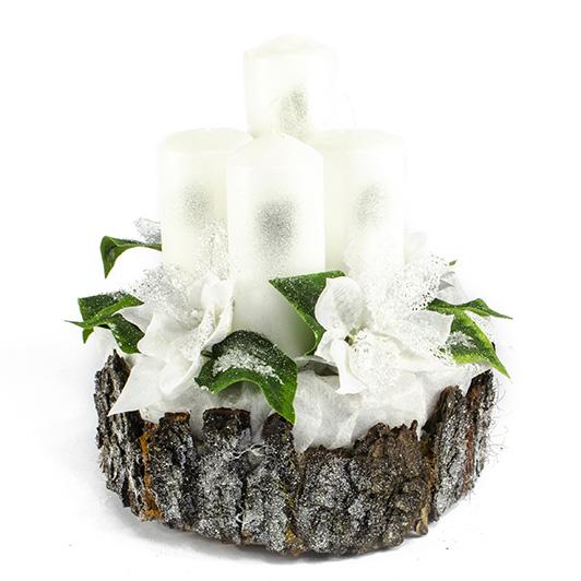 Luxusní svícen s ledovými květy