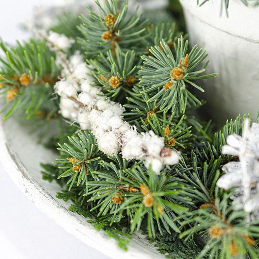 Decentní vintage vánoční/ štědrovečerní svícen 2