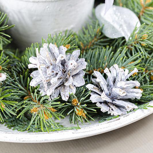 Decentní vintage vánoční/ štědrovečerní svícen 5