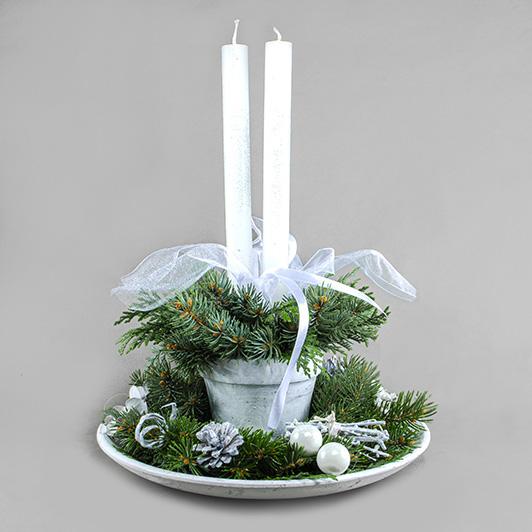 Decentní vintage vánoční/ štědrovečerní svícen 6