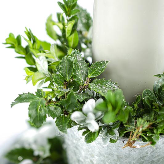 Třpytivý stříbrný vánoční/ štědrovečerní svícen 2