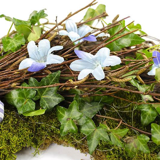 Jarní věnec v modrém 3