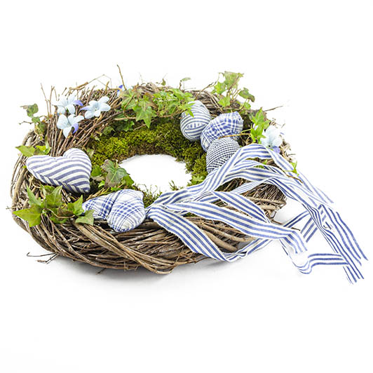 Jarní věnec v modrém 4