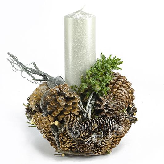 Nezapomenutelný přírodní svícen se šiškami 3