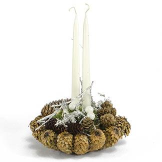 Dechberoucí svícen s bílou dekorací