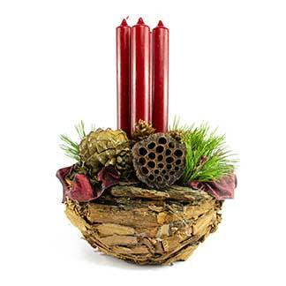 Obdivuhodný adventní/ štědrovečerní svícen s nádechem exotiky