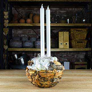 Exkluzivní dřevěný svícen